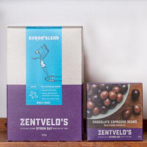 Zentvelds 50g choolate espressobeans match 200g coffee packs