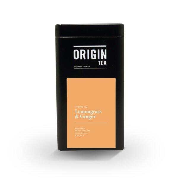 button to buy Origin Lemongrass Ginger Pyramid Tea Tin