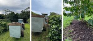 3 pic Spreading compost on Zentvelds farm